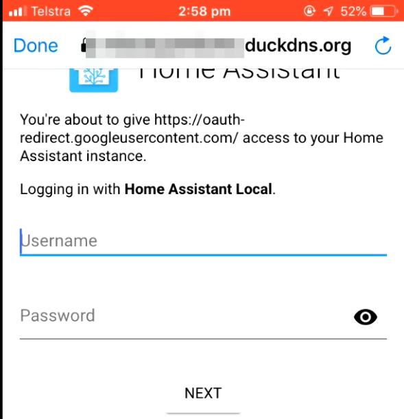 Hassio/Home Assistant: Integration with Google Home – Automation